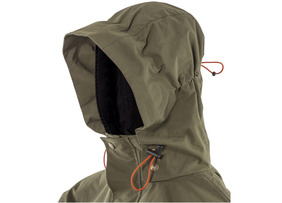 3-panel integral hood concealed inside the collar
