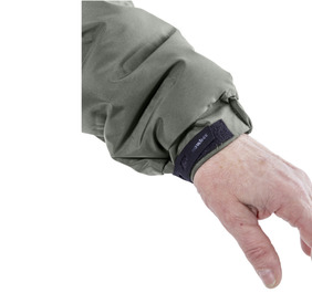 Velcro adjustable elasticated cuffs