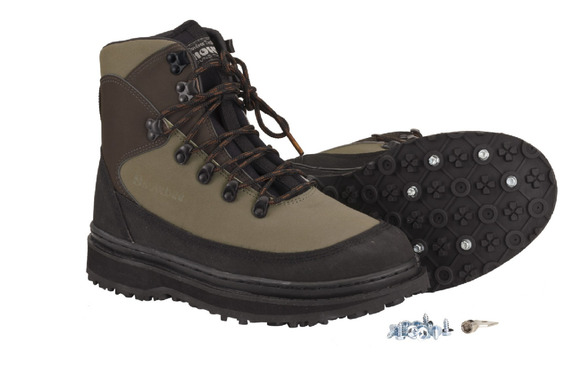 13078-04 Prestige Nubuck Wading Boots Studded Rubber Sole