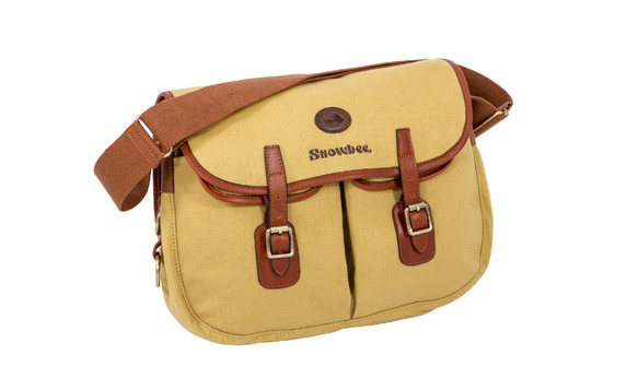 16230 cotton twill canvas & leather 'Heritage' Fishing bag
