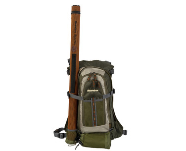 Rear backpack showing new Rod Tube holder.